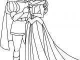 Disney Aurora And Phillip Kiss Coloring Pages