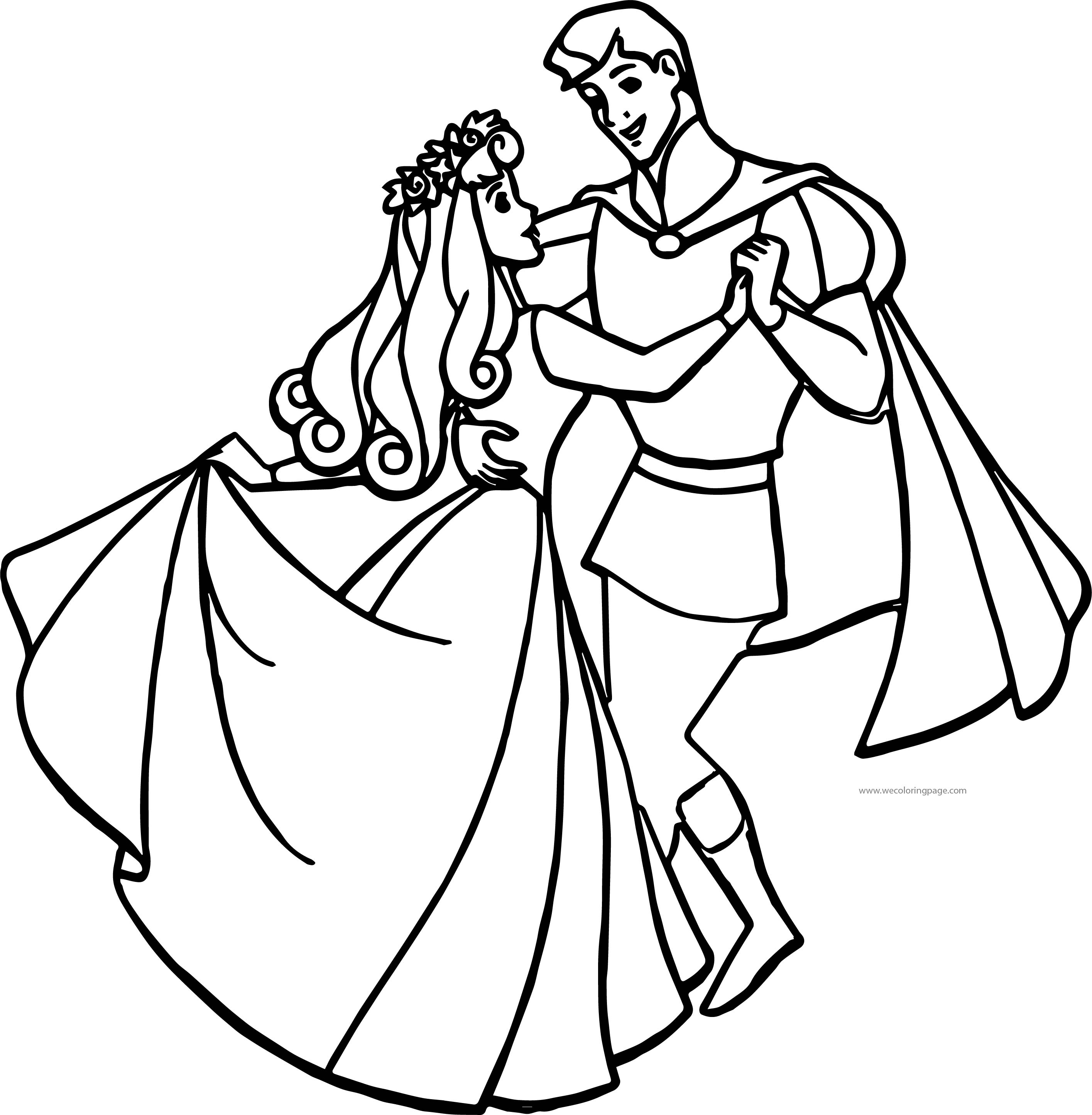 Disney Aurora And Phillip Wedding Coloring Pages