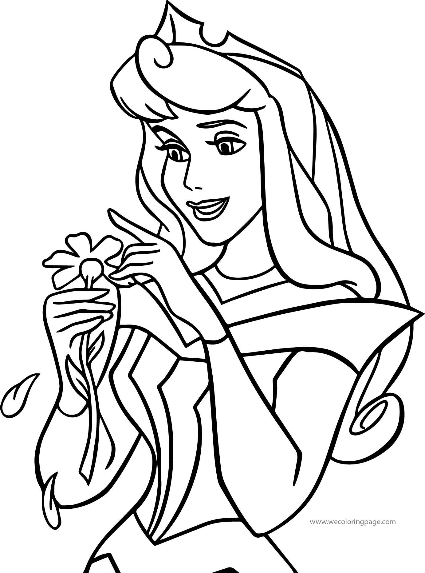 Disney Princess Sleeping Beauty At Disney Daisy Coloring Pages