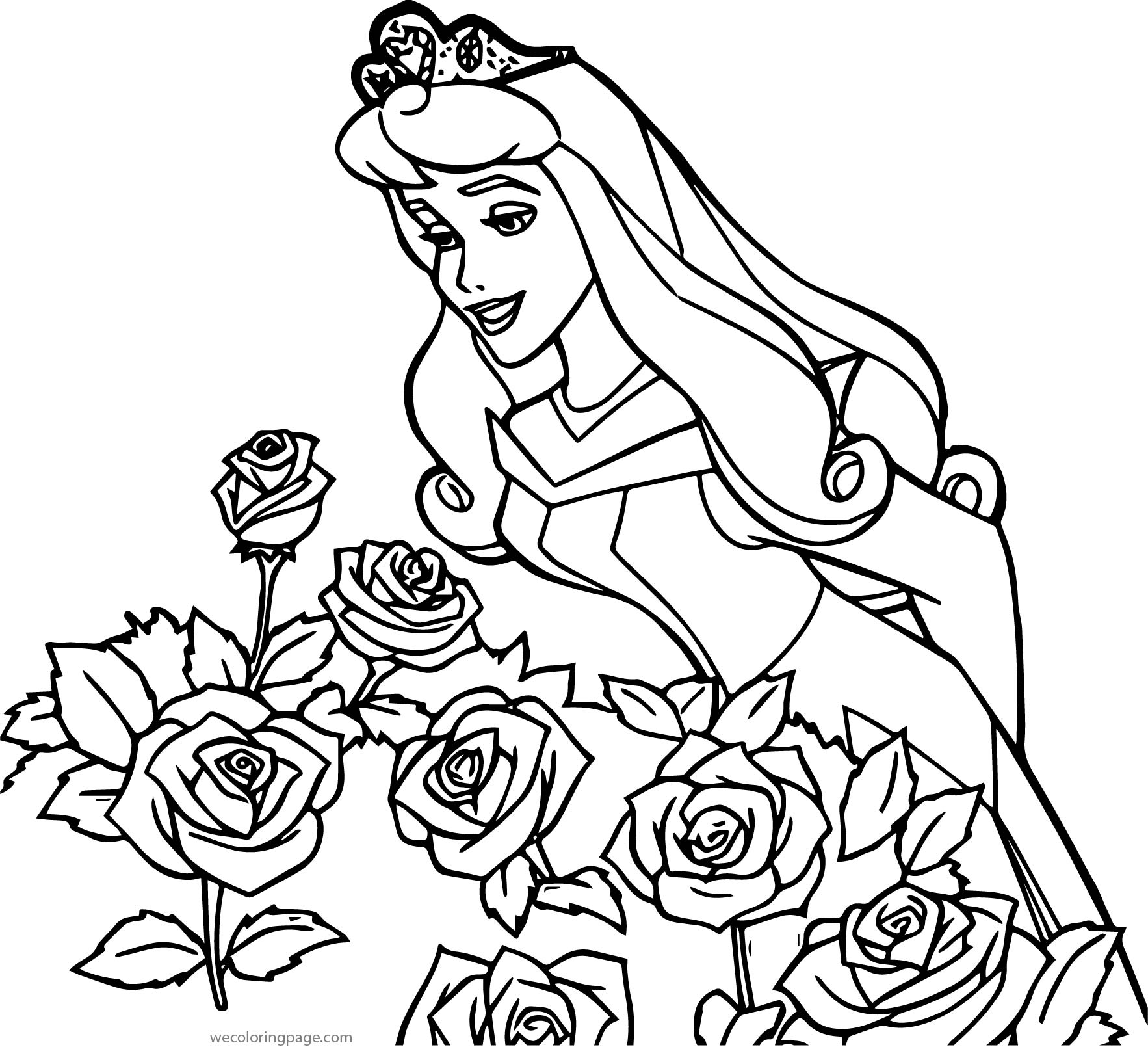 Disney Princess Sleeping Beauty At Disney Roses Coloring
