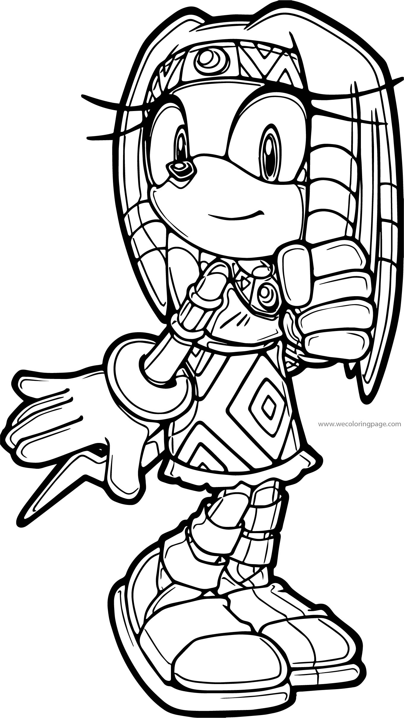 Egyptian Sonic The Hedgehog Coloring Page