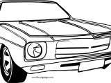 End Vintage Car Coloring Page
