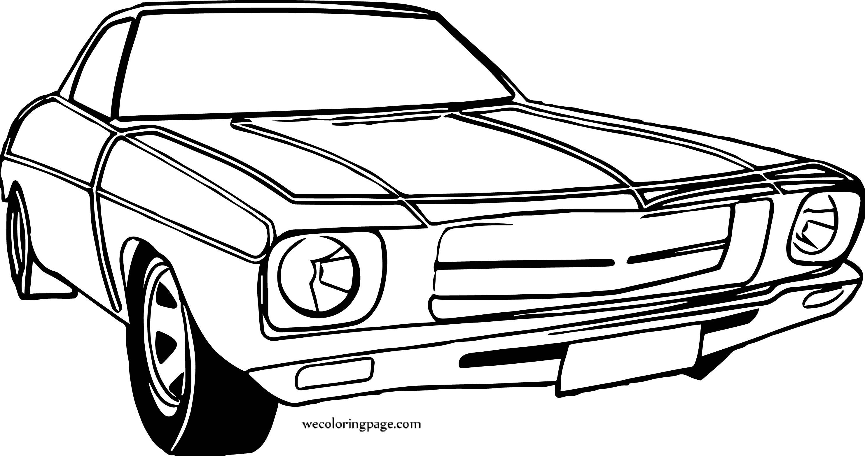 End Vintage Car Coloring Page