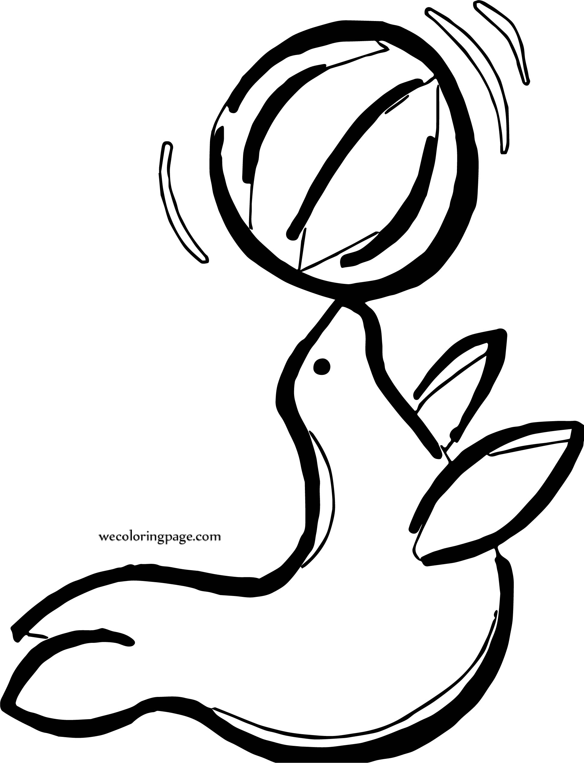Flipper Ball On Nose Coloring Page