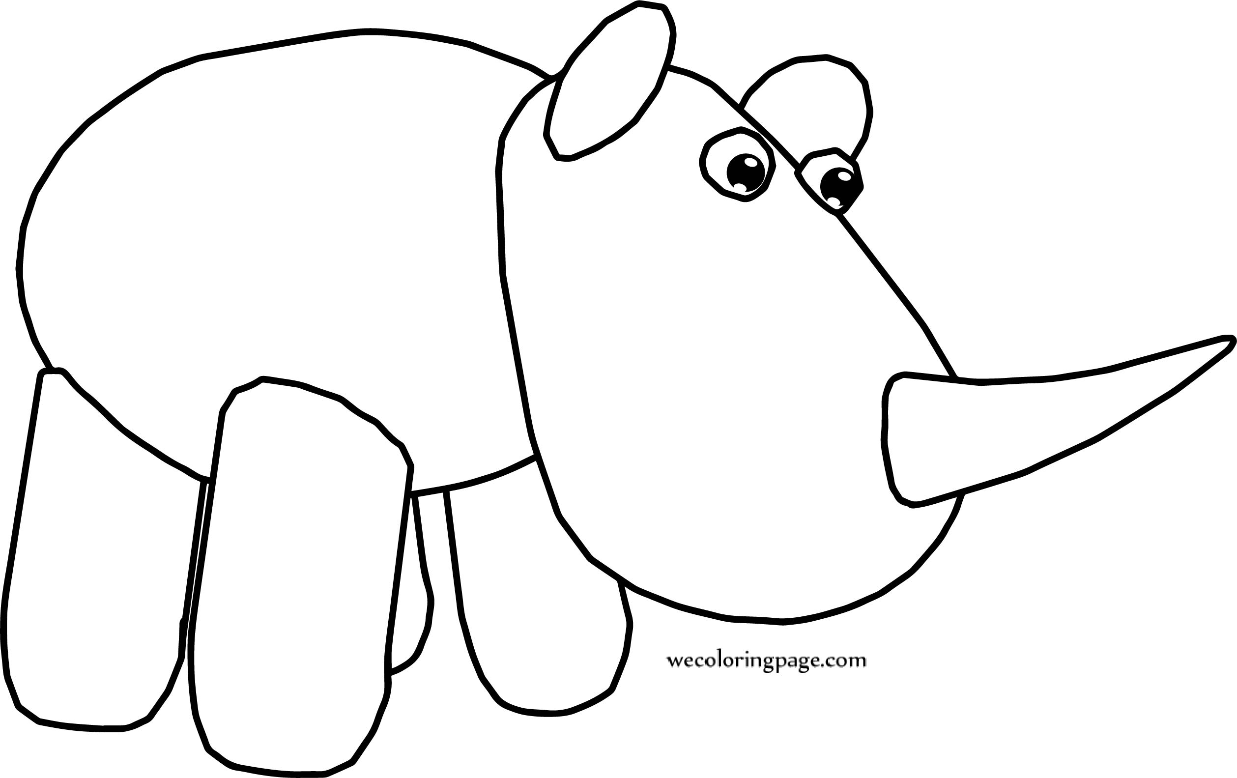 Free Download Rhinoceros Coloring Page Cartoon