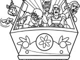 Front Car Scooby Doo Scream Coloring Page