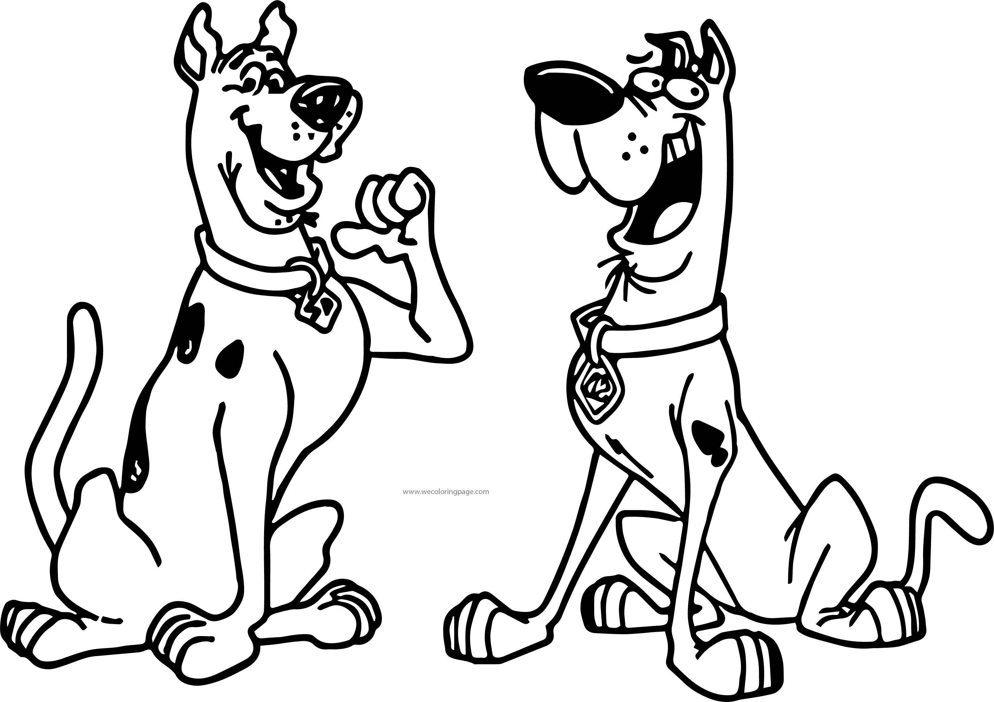 Excelente Scooby Doo Para Colorear Páginas Shaggy Friso - Dibujos ...