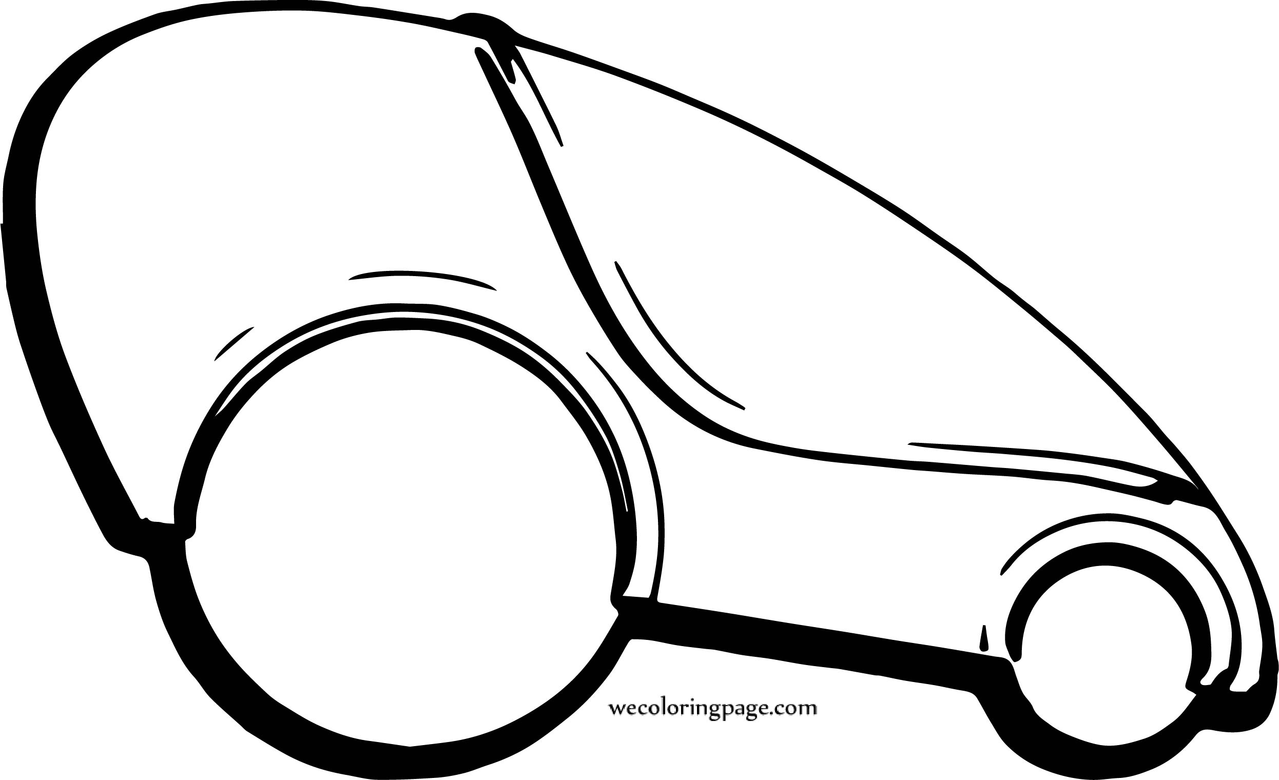 Future Some Car Coloring Page