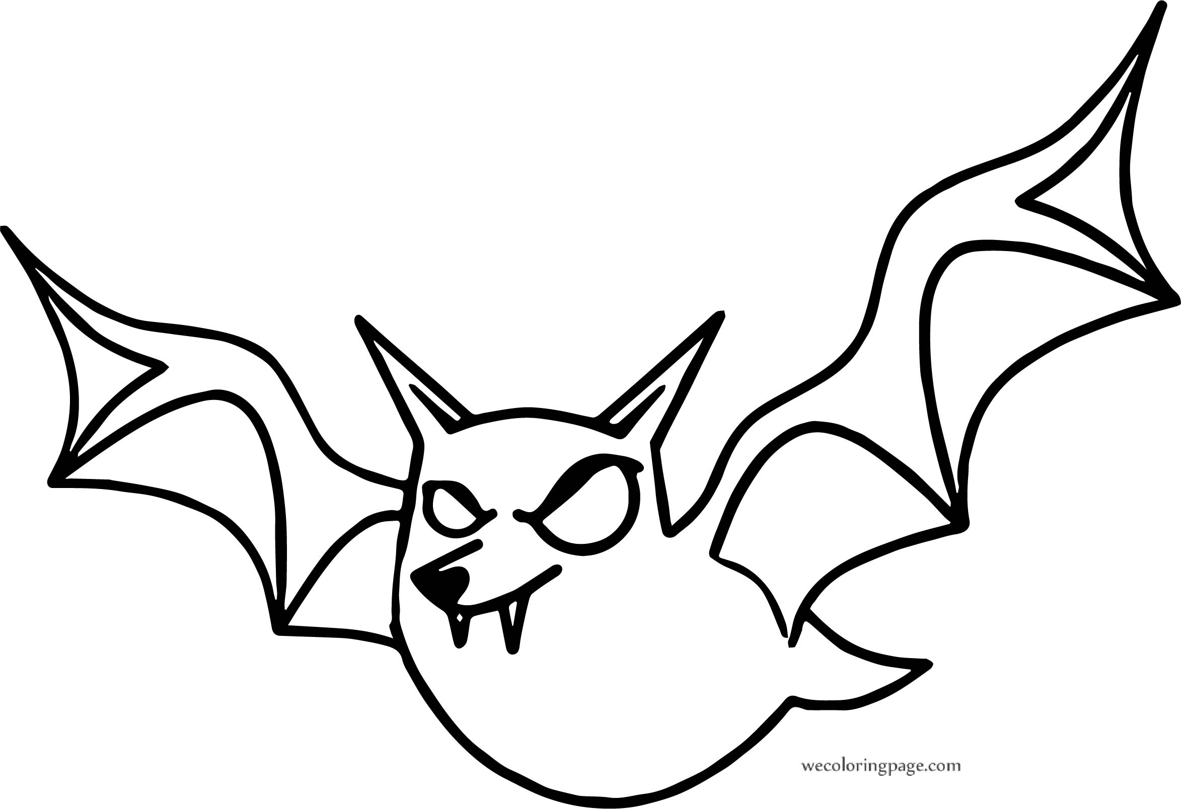 Ghost Bat Coloring Page