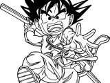 Goku Bat Kick Coloring Page