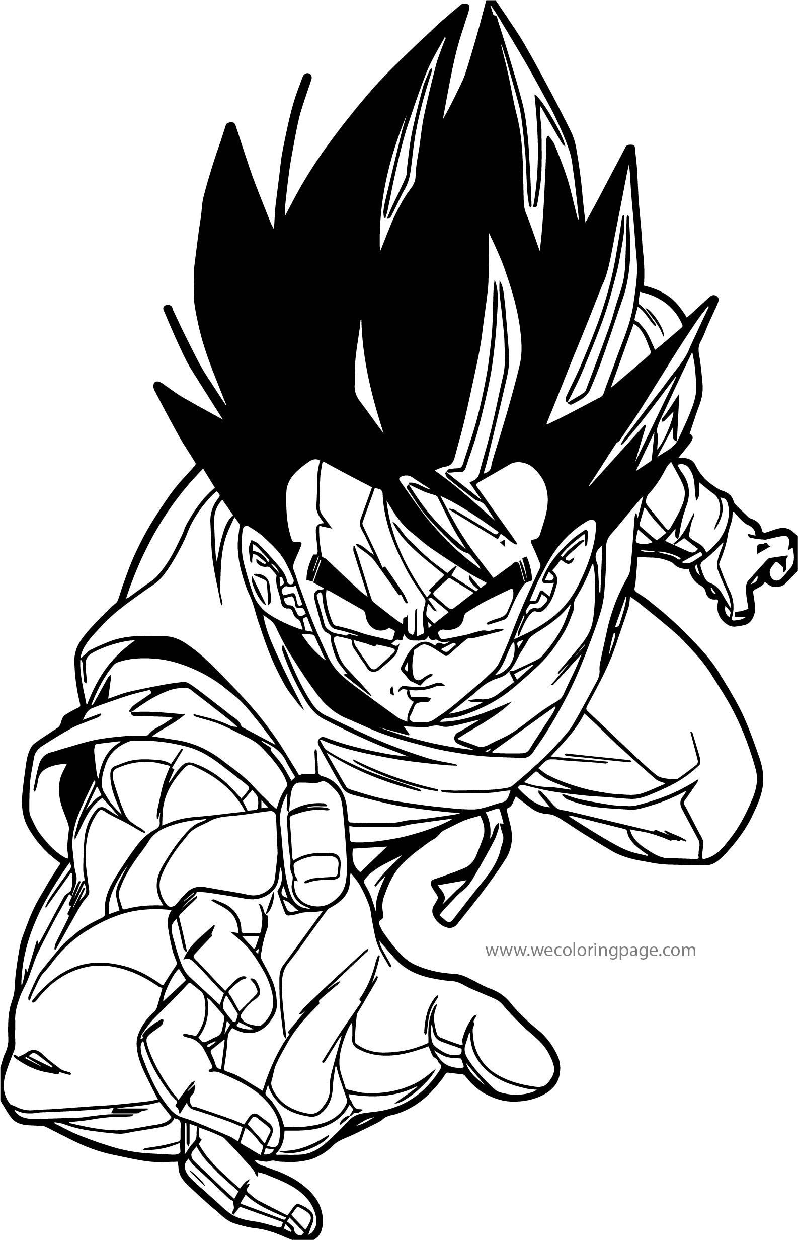 Goku Catch Coloring Page