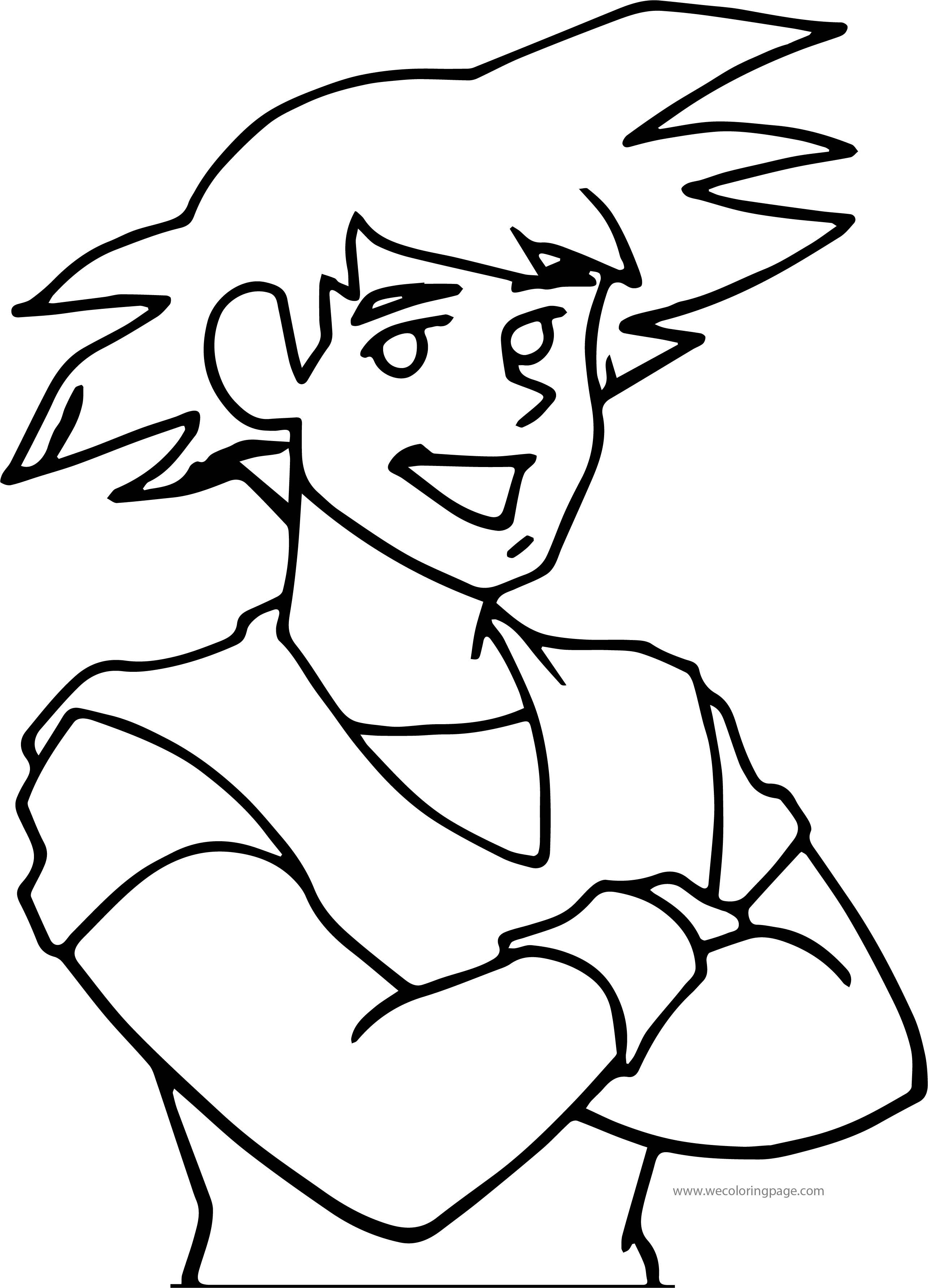 Goku Man Coloring Page
