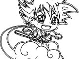 Goku On Cloud Coloring Pages