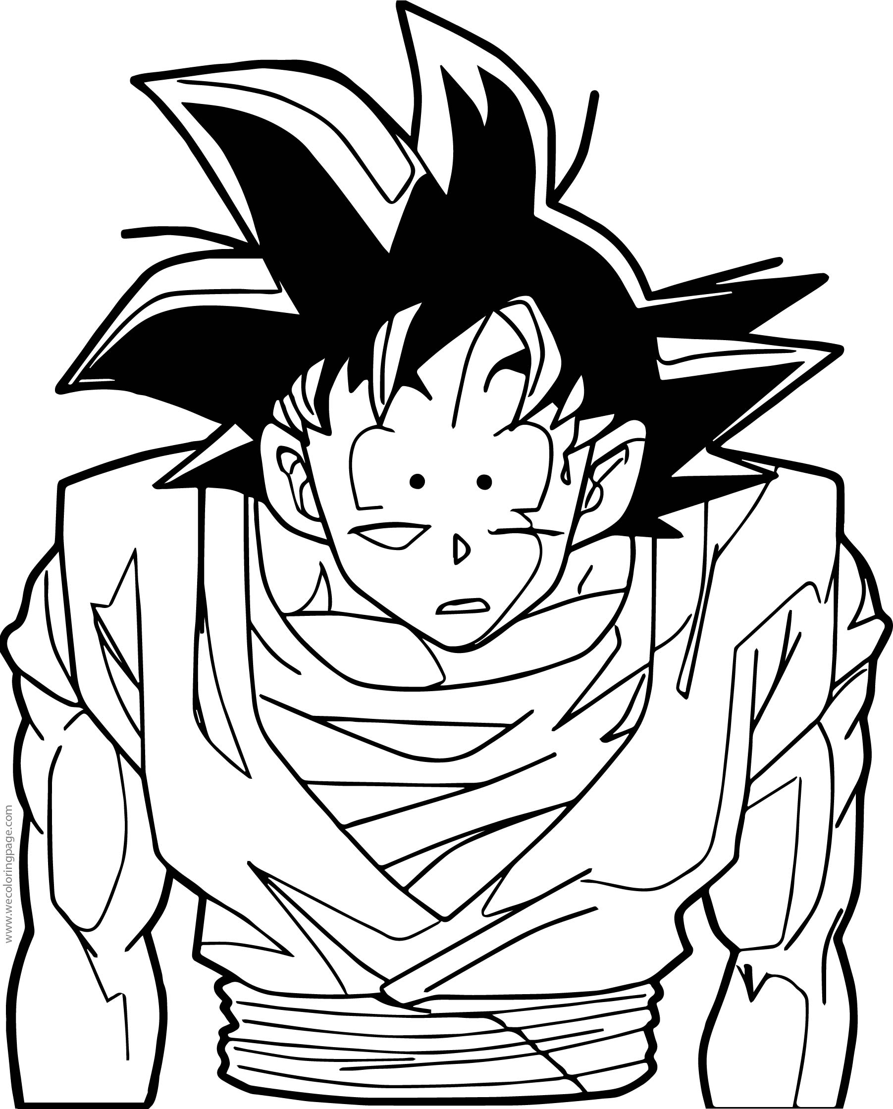 Goku Shock Coloring Page