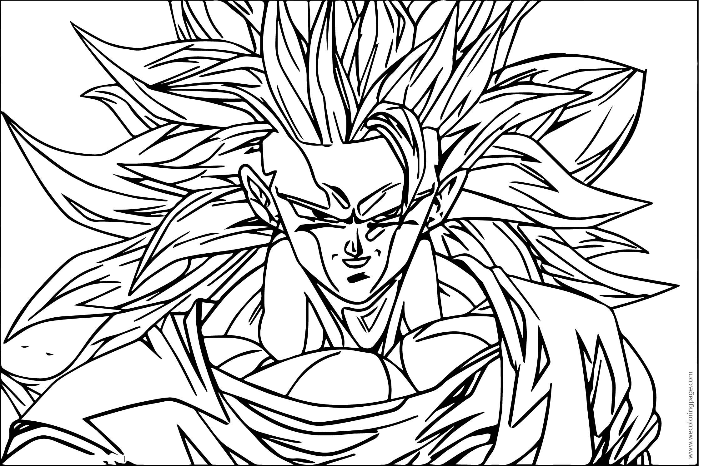 Goku Smile Saiyan Coloring Page