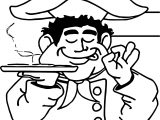 Good Pizza Man Coloring Page