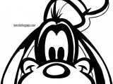 Goofy Easy Face Coloring Page