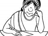 Greek Writer Woman Coloring Page