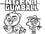 Gumball And Darwin Agent Coloring Page