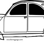 Hand Car Coloring Page