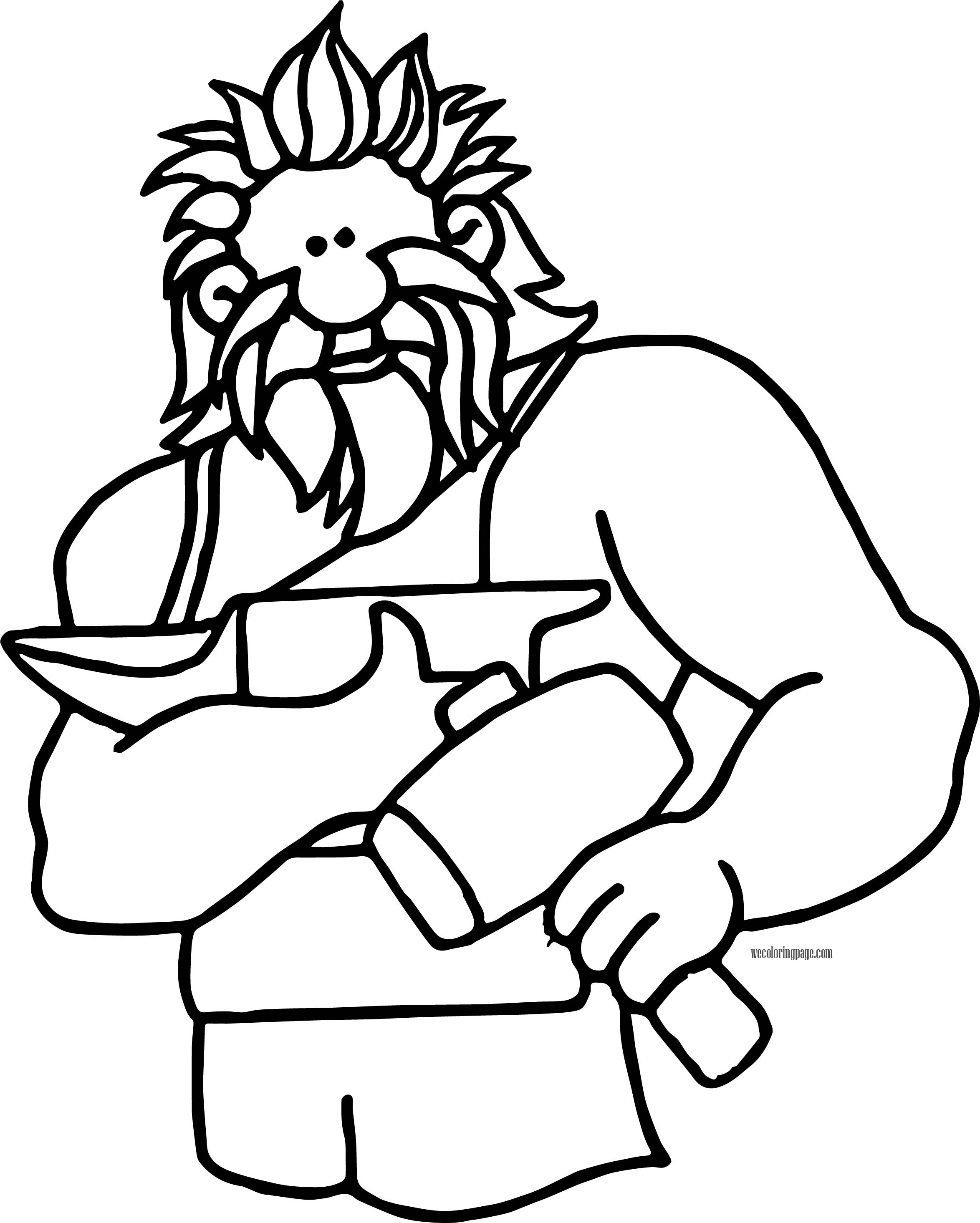 Hephaestus coloring page for Mount olympus coloring pages