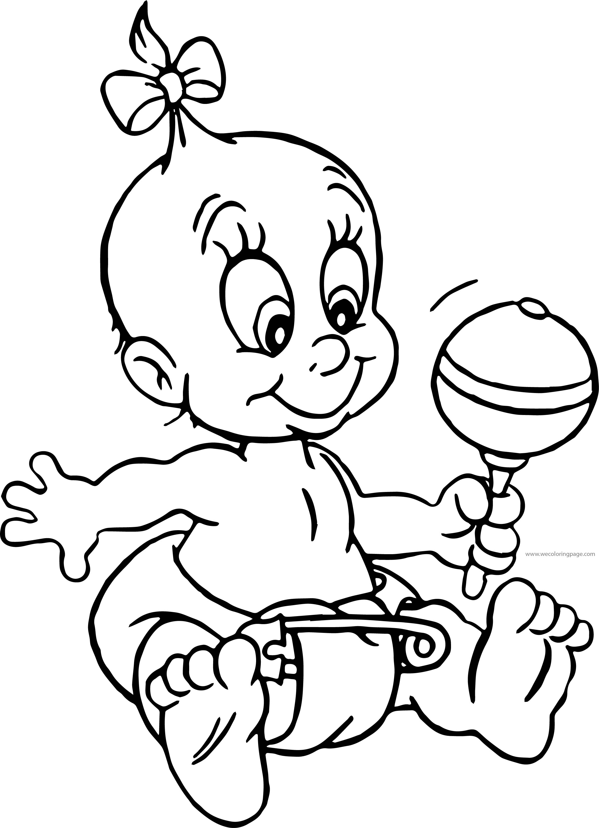 Herman Her Girl Baby Coloring Page