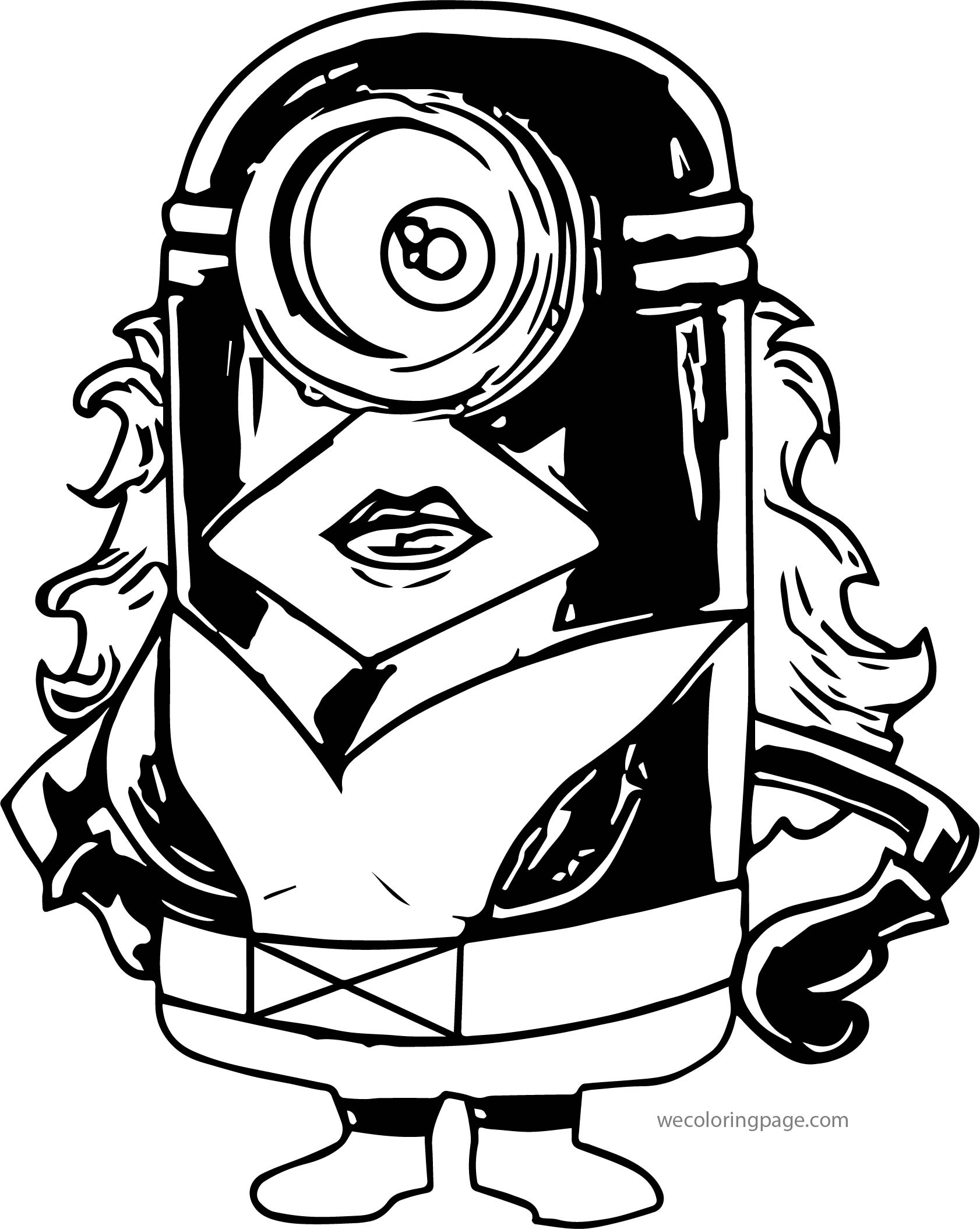 Hero Minions Coloring Page