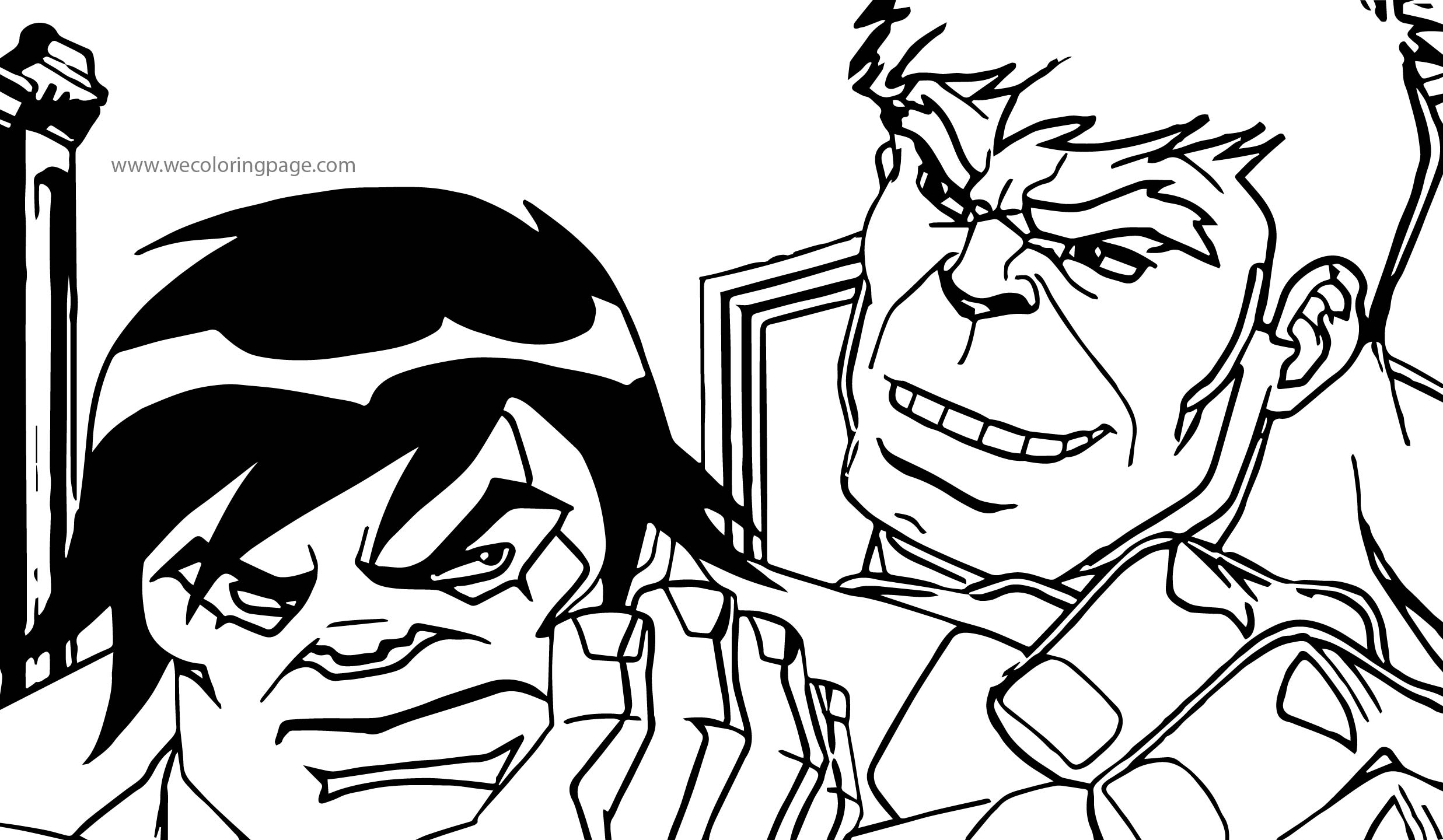 Hulk And Brother Avengers Coloring Page