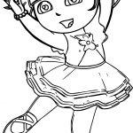 I Ballerina Dora Girl Coloring Page