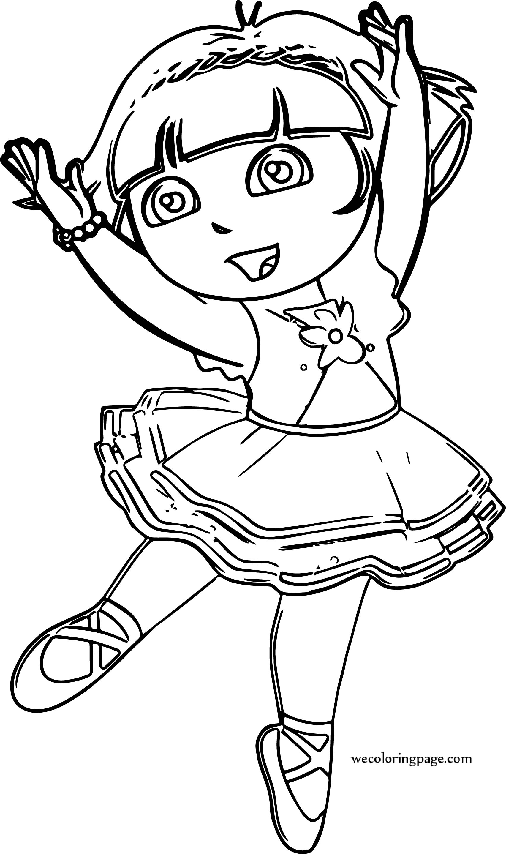 It's just a photo of Crafty Printable Ballerina Coloring Pages