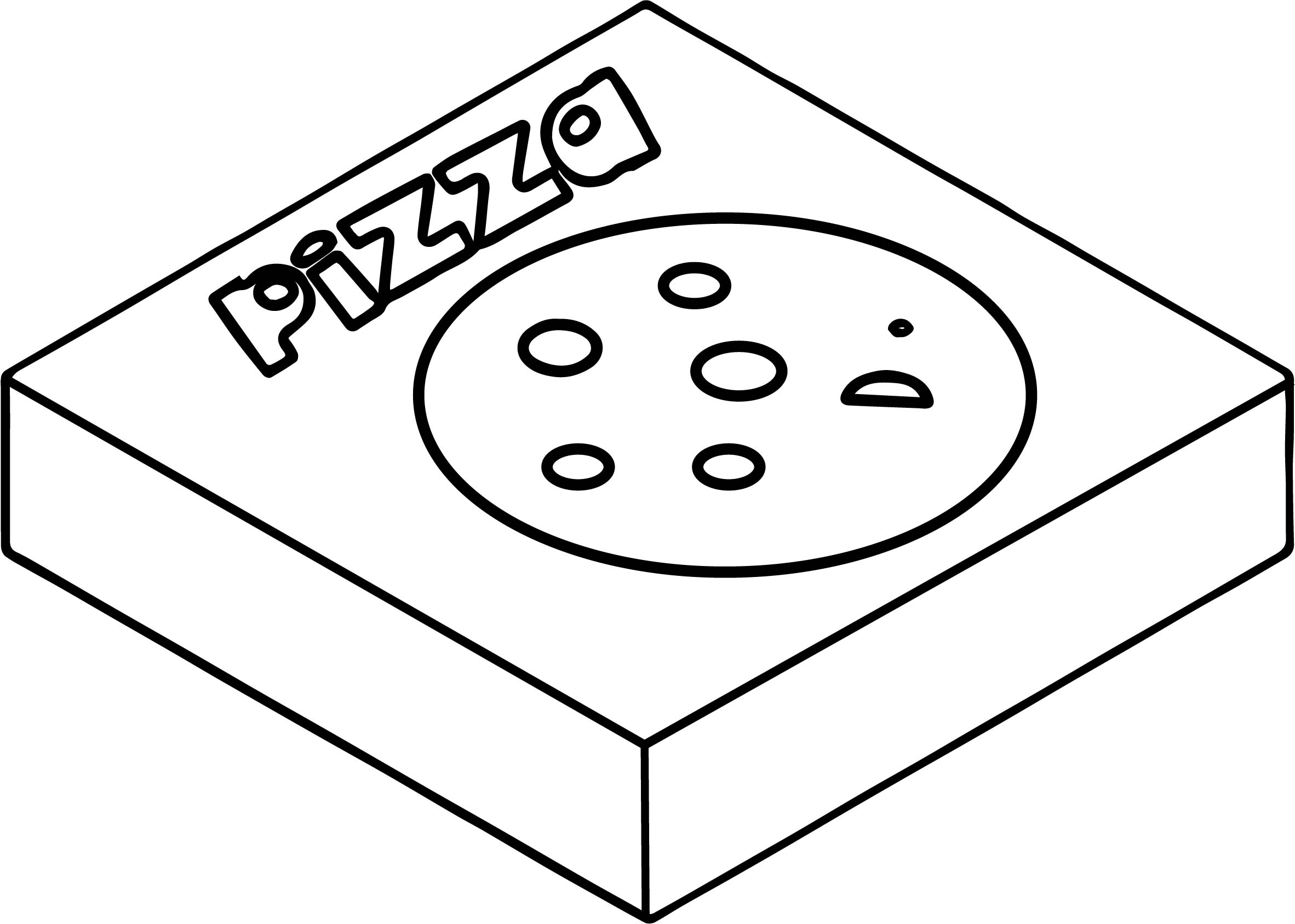 Illustration Of A Pizza Box Coloring Page