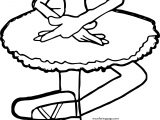 In Ballerina Girl Coloring Page