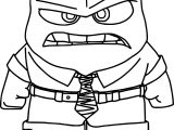 Inside Out Anger Box Coloring Pages