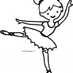 Is Ballerina Girl Coloring Page