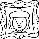 JoJo Circus Picture Frame Coloring Page