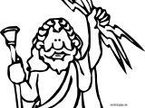 Jupiter Zeus Coloring Page