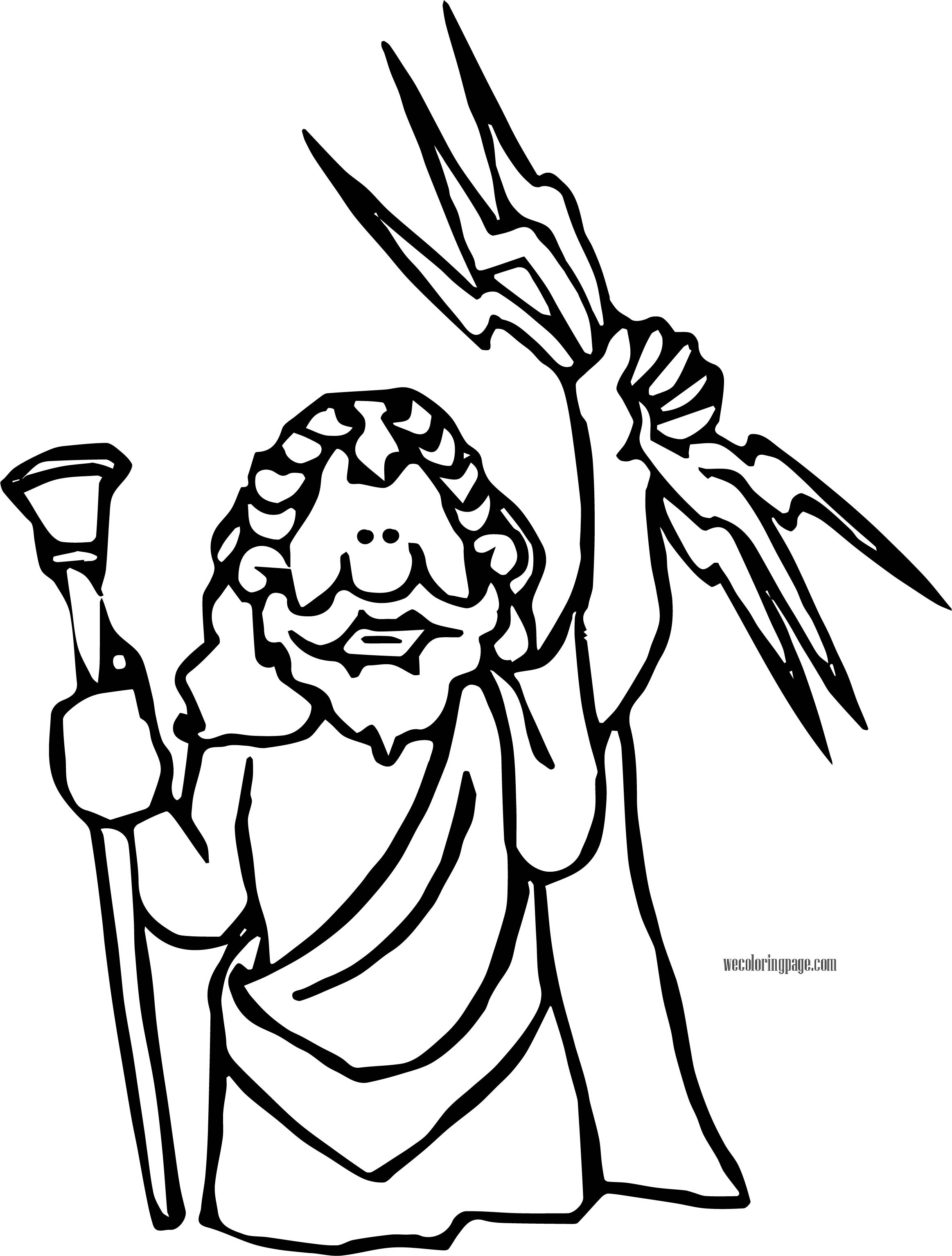 Jupiter Zeus Coloring Page | Wecoloringpage