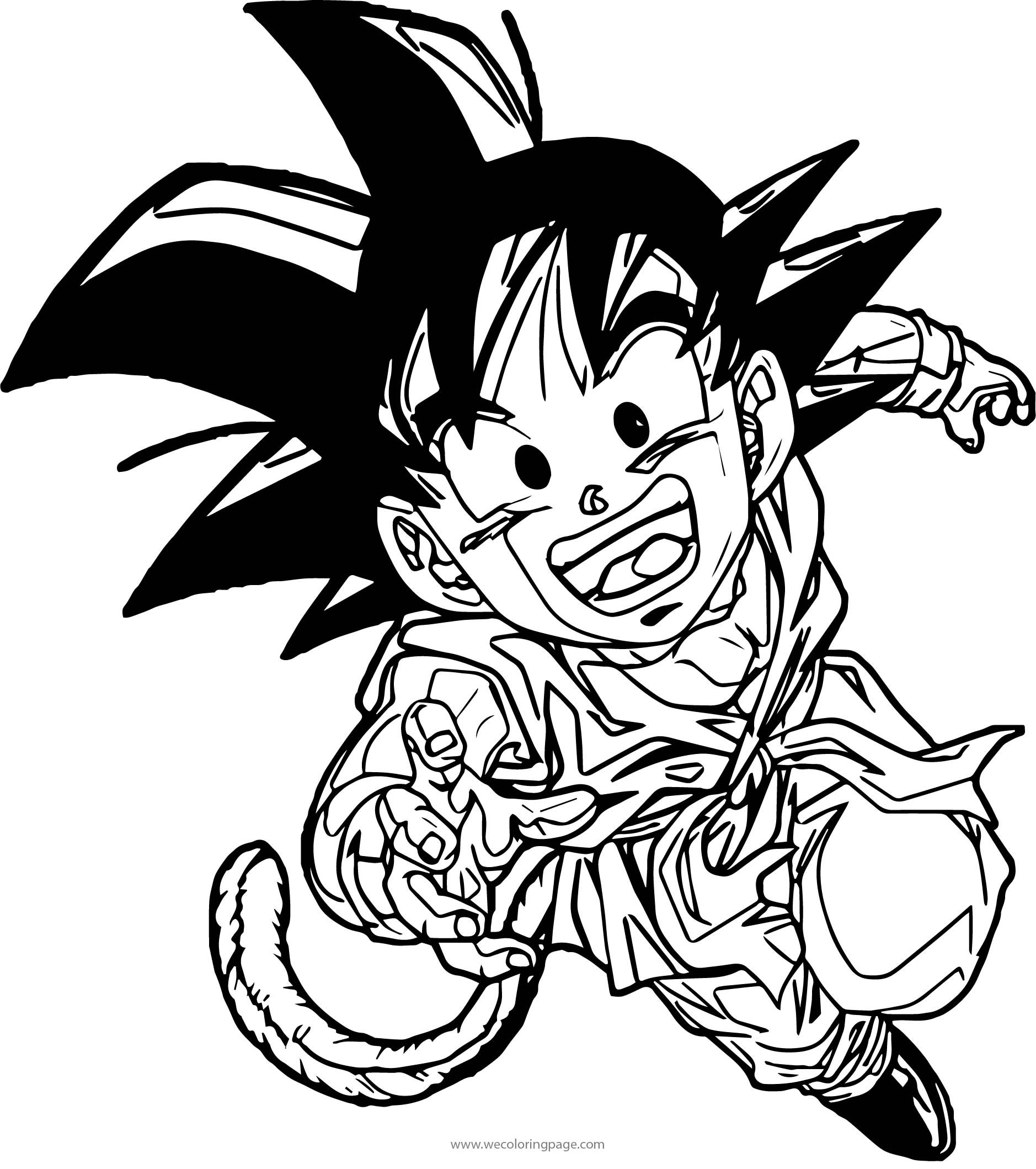 Kid Goku Fun Coloring Page