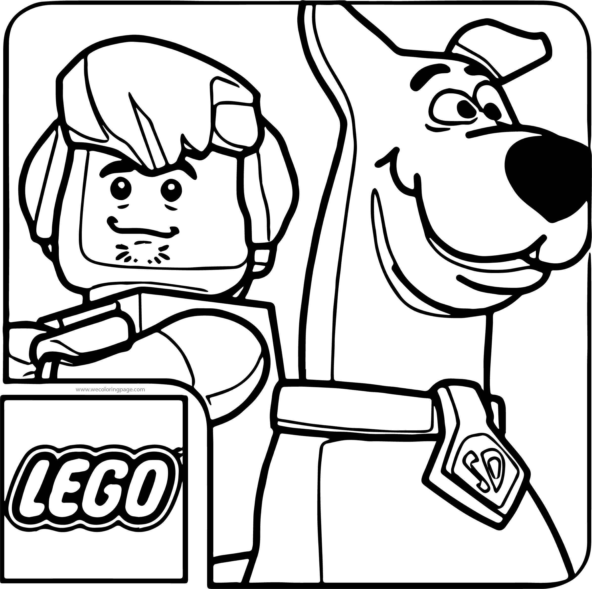 Lego Scooby Doo Haunted Coloring Page | Wecoloringpage.com