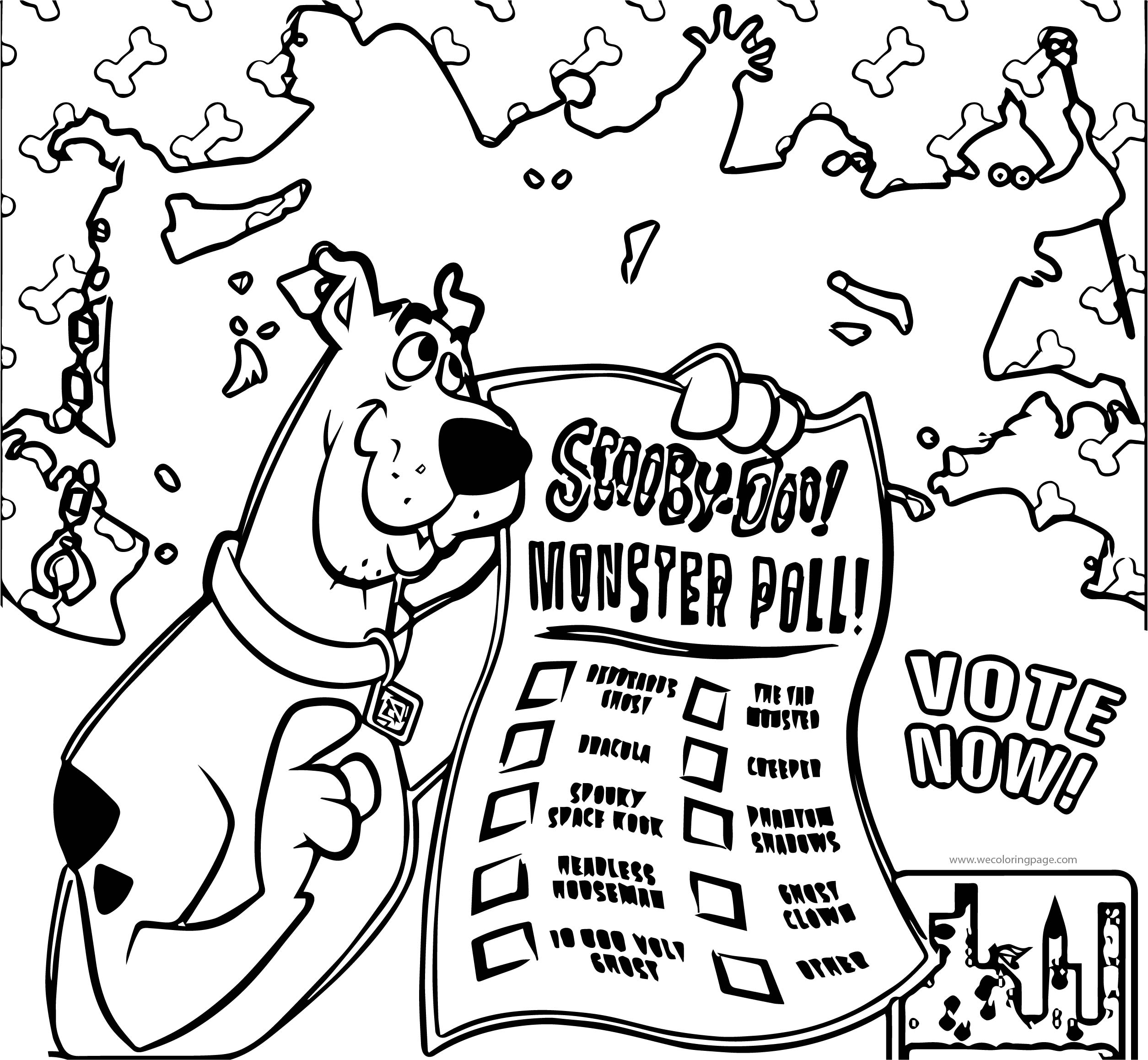 Mego Museum Scooby Doo Poll Coloring Page