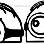 Minion Minions Eyes Coloring Page