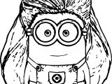 Minions Big Hair Coloring Page