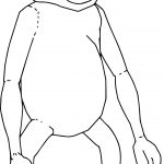 Monkey Tall Coloring Page