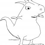 Monster Crazy Cartoon Coloring Page