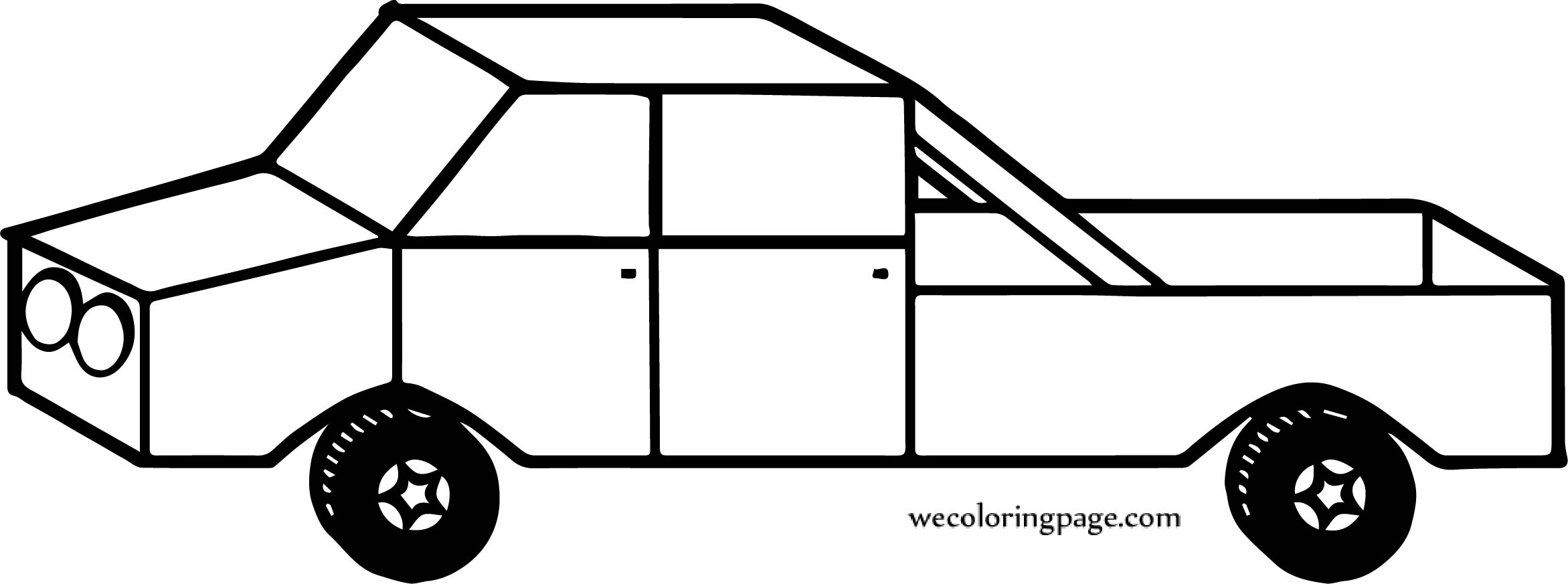 Move Car Coloring Page