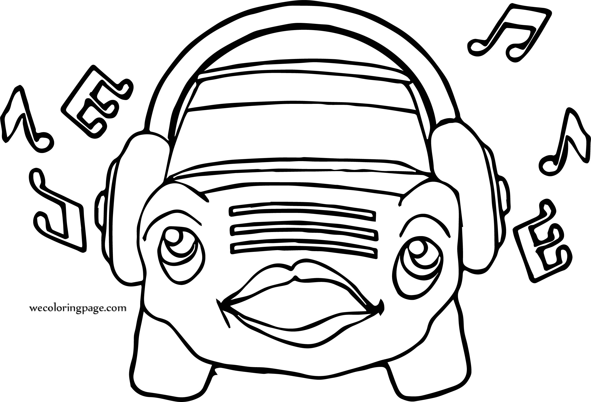 Music Car Coloring Page