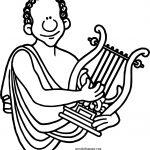 Mythology Greece Orpheus Coloring Page