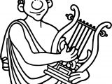 Mythology Greece Orpheus Coloring Page