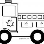 Old Fire Car Coloring Page