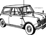Old Vintage Car Coloring Page